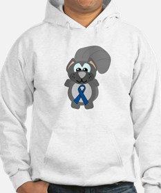 Blue Awareness Ribbon Goofkins Squirrel Jumper Hoody