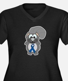 Blue Awareness Ribbon Goofkins Squirrel Women's Pl