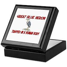 Great Blue Heron trapped in a human body Keepsake