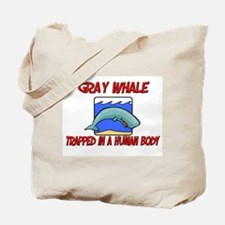 Gray Whale trapped in a human body Tote Bag