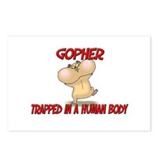Gopher trapped in a human body Postcards (Package
