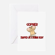 Gopher trapped in a human body Greeting Cards (Pk