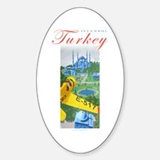 Istanbul Flyer Oval Decal