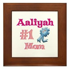 Aaliyah - #1 Mom Framed Tile