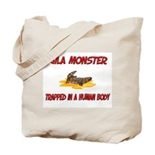 Gila Monster trapped in a human body Tote Bag