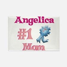 Angelica - #1 Mom Rectangle Magnet