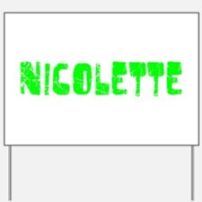 Nicolette Faded (Green) Yard Sign