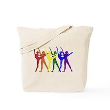 Rainbow of Dancers Tote Bag