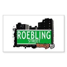ROEBLING STREET, BROOKLYN, NYC Rectangle Decal
