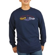 Silent Service Gold & Silver Dolphins T