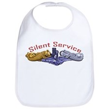 Silent Service Gold & Silver Dolphins Bib
