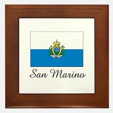 San Marino Flag Framed Tile