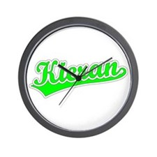 Retro Kieran (Green) Wall Clock