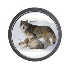 Domination Wolves Wall Clock