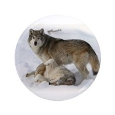"""Domination Wolves 3.5"""" Button"""
