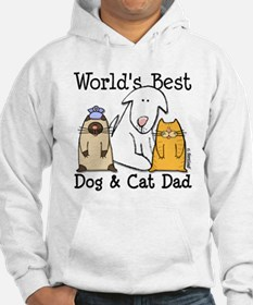 World's Best Dog and Cat Dad Hoodie