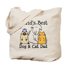 World's Best Dog and Cat Dad Tote Bag
