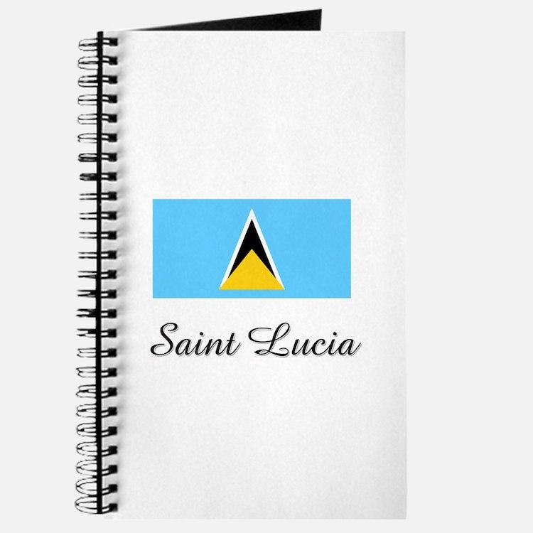 Saint Lucia Flag Journal