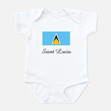 Saint Lucia Flag Infant Bodysuit