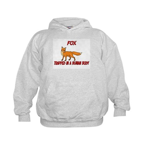 Fox trapped in a human body Kids Hoodie
