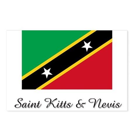 Saint Kitts & Nevis Flag Postcards (Package of 8)