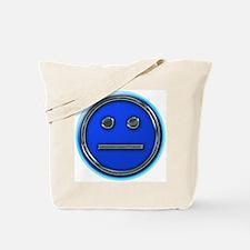 Flat Blue Unsmily Tote Bag