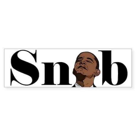Obama Snob Bumper Sticker