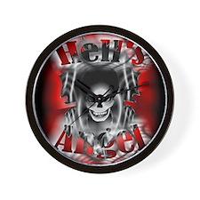 Hell's AngeL Wall Clock