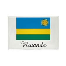 Rwanda Flag Rectangle Magnet