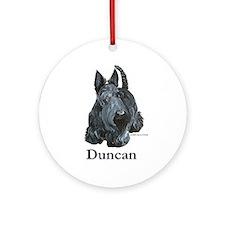 "Scottish Terrier ""Duncan"" Ornament (Round)"