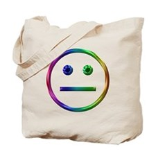 Rainbow Unsmily Tote Bag