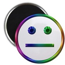 "Rainbow Unsmily 2.25"" Magnet (10 pack)"