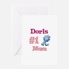 Doris - #1 Mom Greeting Card