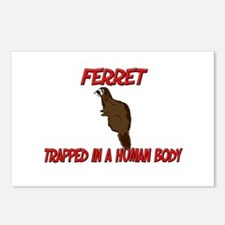 Ferret trapped in a human body Postcards (Package