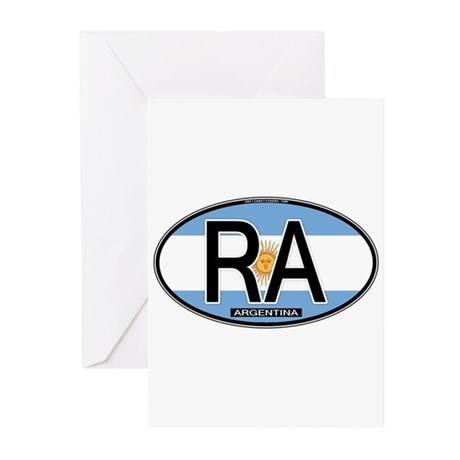 Argentina Oval Colors Greeting Cards (Pk of 10)