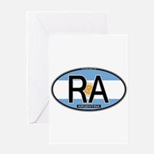 Argentina Oval Colors Greeting Card