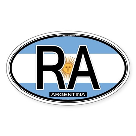 Argentina Oval Colors Oval Sticker