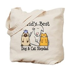 World's Best Dog and Cat Stepdad Tote Bag