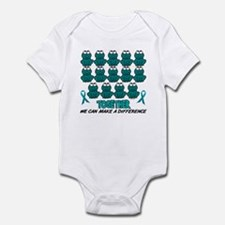 Teal Frogs 1 Infant Bodysuit