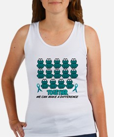 Teal Frogs 1 Women's Tank Top