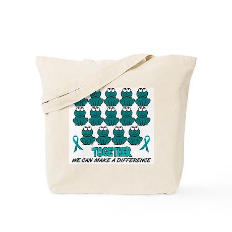 Teal Frogs 1 Tote Bag