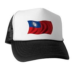 Wavy Burma Flag Trucker Hat
