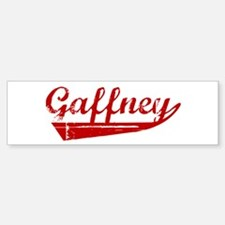 Gaffney (red vintage) Bumper Bumper Bumper Sticker