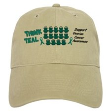 Teal Frogs 3 Baseball Cap