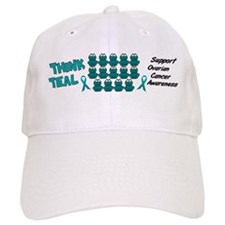 Teal Frogs 3 Baseball Cap