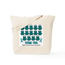 Teal Frogs 3 Tote Bag