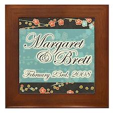 """""""Margaret & Brett"""" Wedding Framed Tile"""