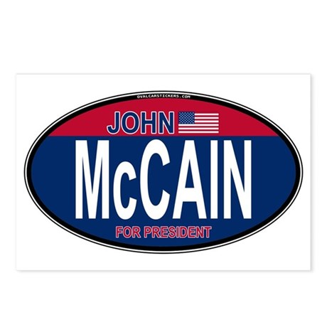 McCain RW&B Oval Postcards (Package of 8)