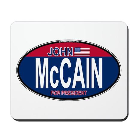 McCain RW&B Oval Mousepad