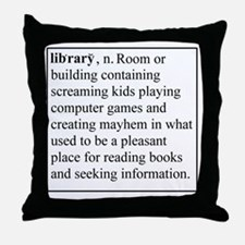 Library Info Throw Pillow